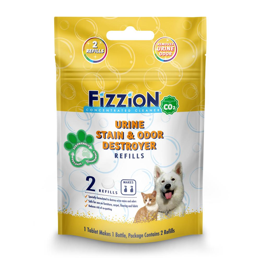 Fizzion Extra Strength Pet Stain and Pet Odor Eliminator – 2 Refill Pouch
