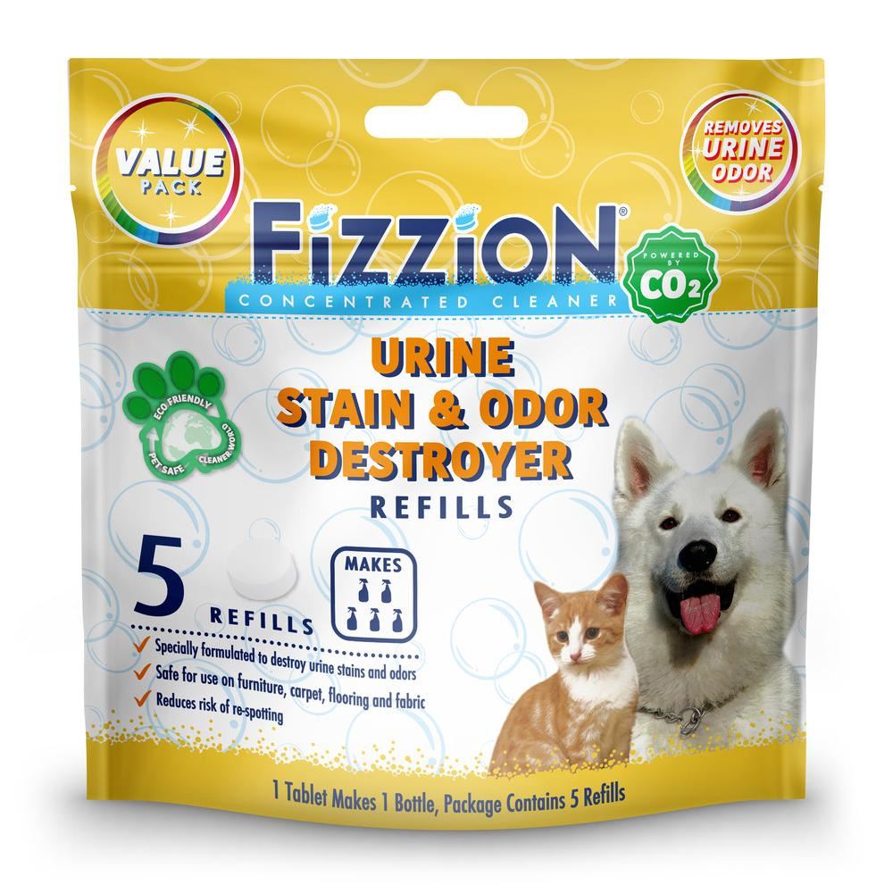 Fizzion Extra Urine Stain and Odor Destroyer – 5 Refill Pouch