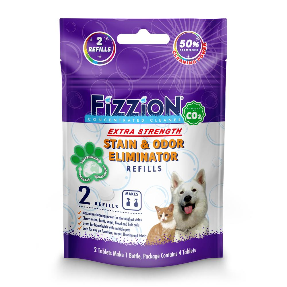 Fizzion Extra Urine Stain and Odor Destroyer – 2 Refill Pouch