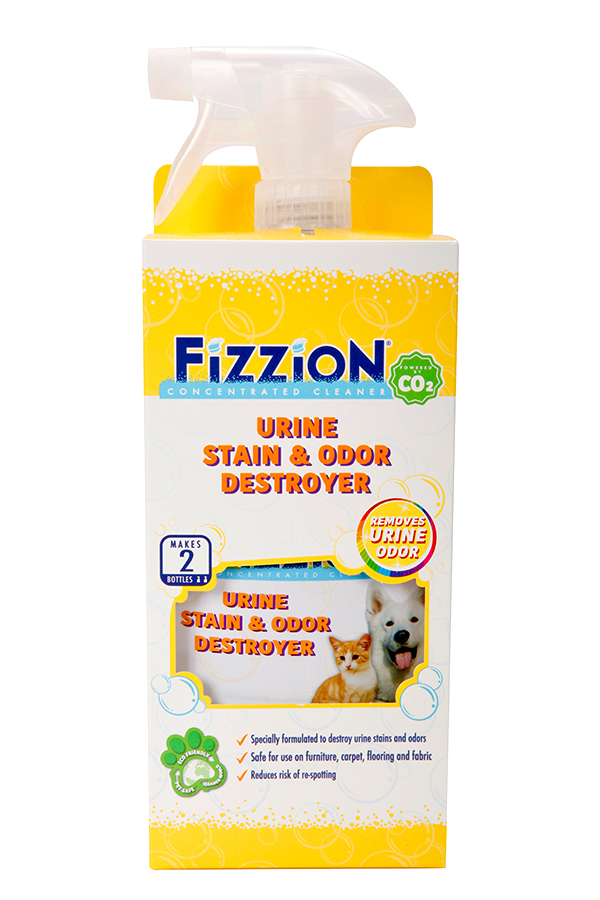Fizzion Extra Urine Stain and Odor Destroyer – 23oz bottle with Bonus Refill